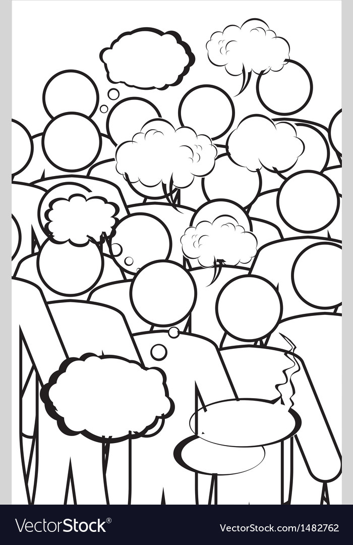 Human figures with speaking bubbles vector   Price: 1 Credit (USD $1)
