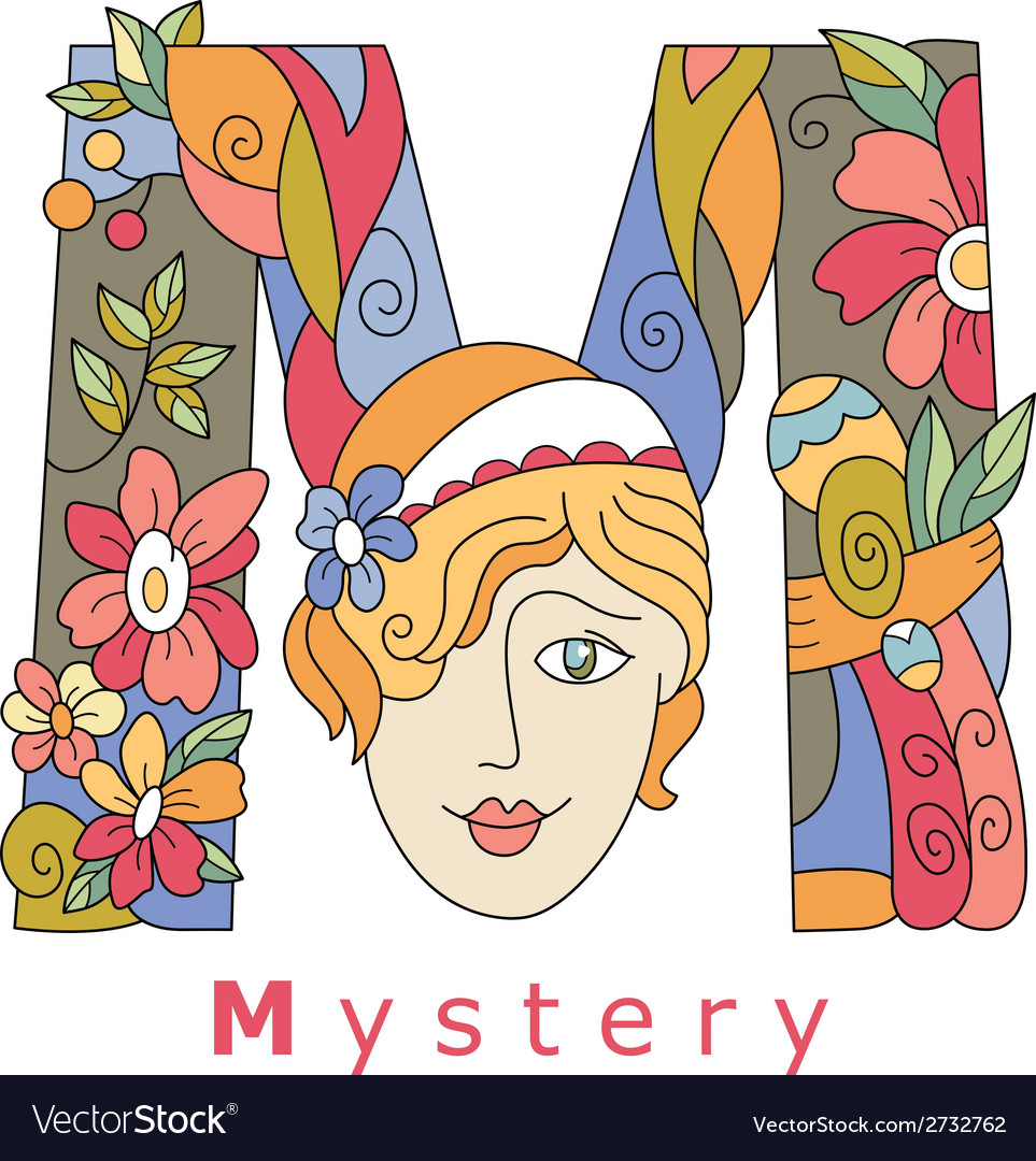 Letter m mystery vector | Price: 1 Credit (USD $1)