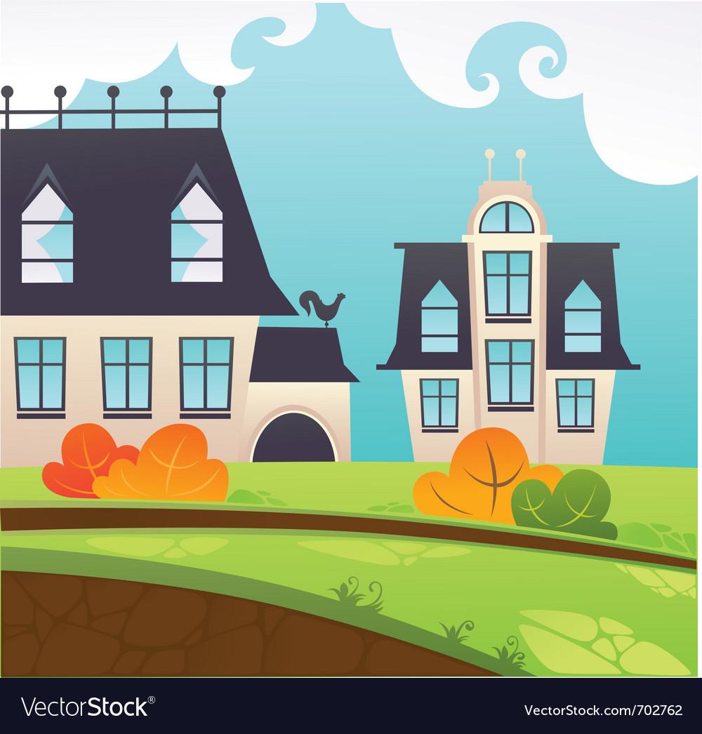 My little village vector | Price: 1 Credit (USD $1)