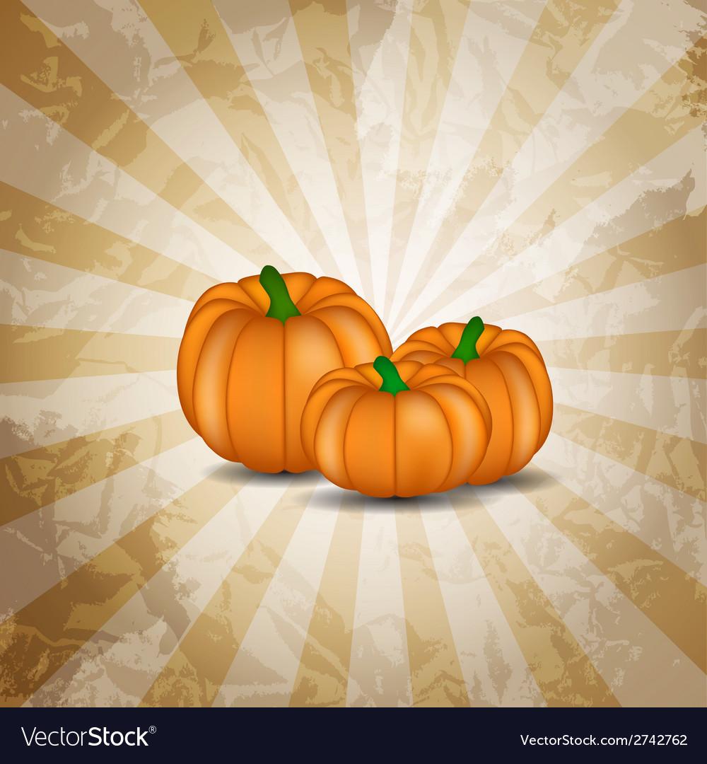Orange pumpkin background vector | Price: 1 Credit (USD $1)