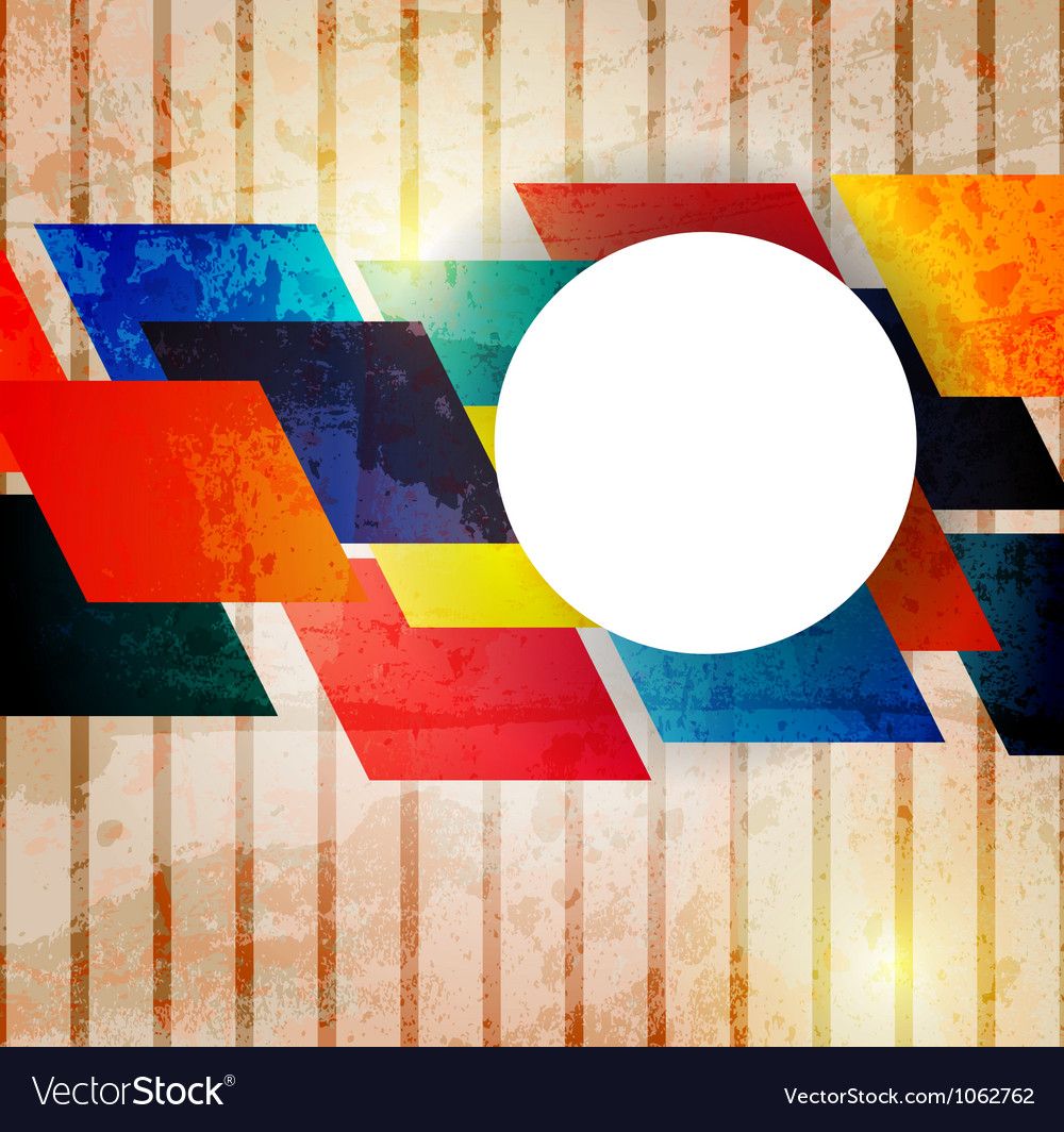 Retro modern abstraction in color abstract vector | Price: 1 Credit (USD $1)
