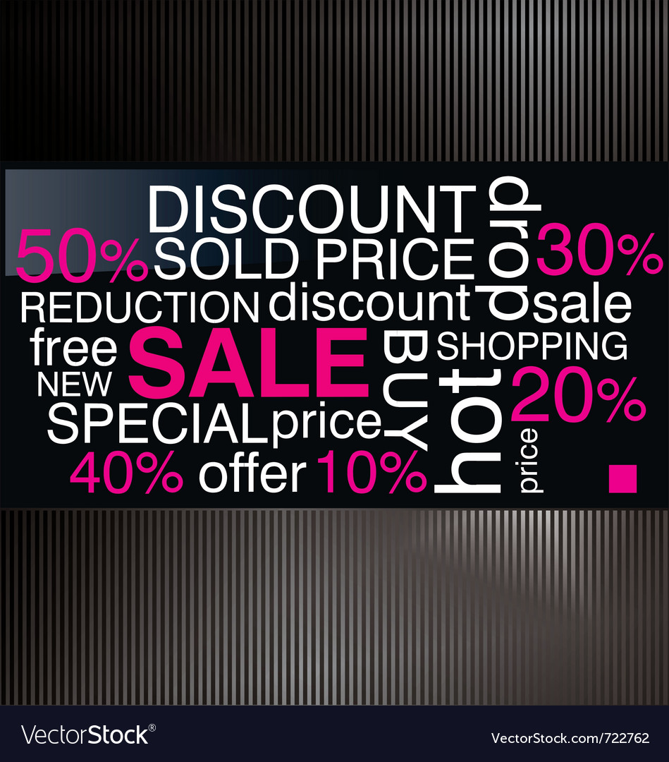 Sale discount advertisement vector | Price: 1 Credit (USD $1)