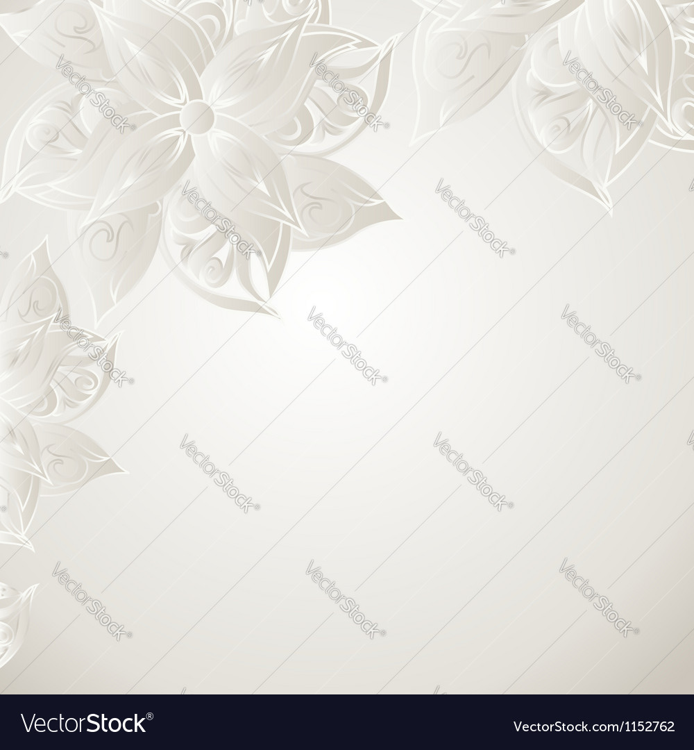Silver background with floral ornament vector | Price: 1 Credit (USD $1)