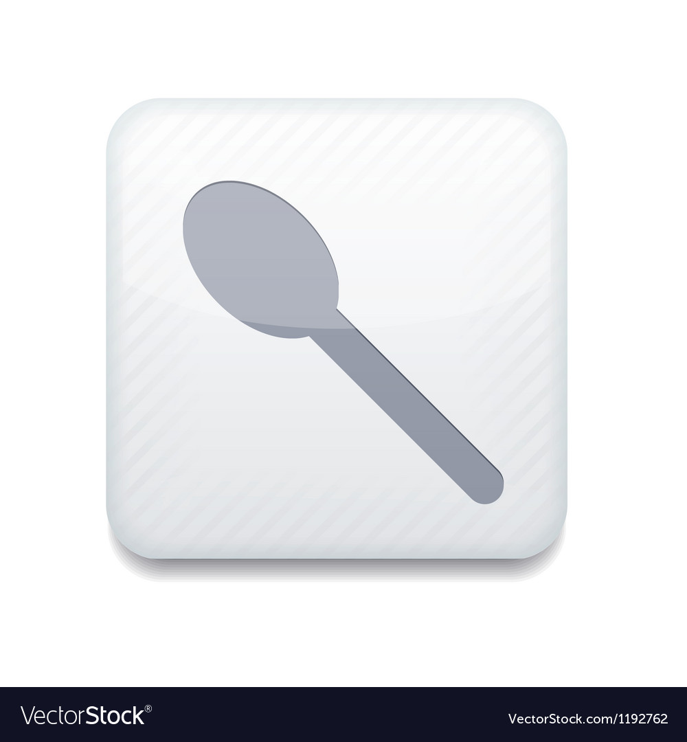 White teaspoon icon eps10 easy to edit vector | Price: 1 Credit (USD $1)