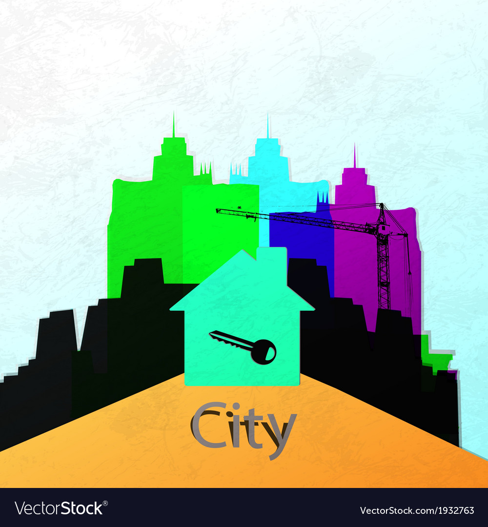 The city wall construction of a new home abstract vector | Price: 1 Credit (USD $1)