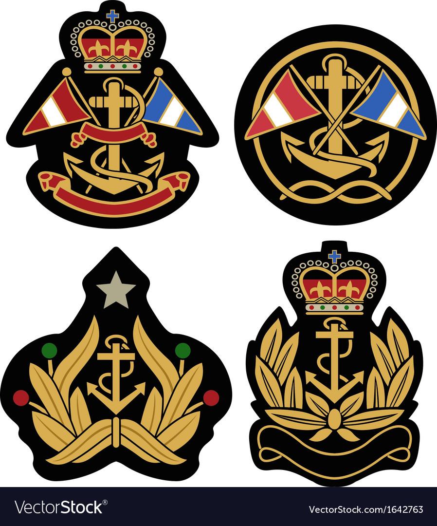 Classic nautical royal emblem badge shield vector | Price: 1 Credit (USD $1)