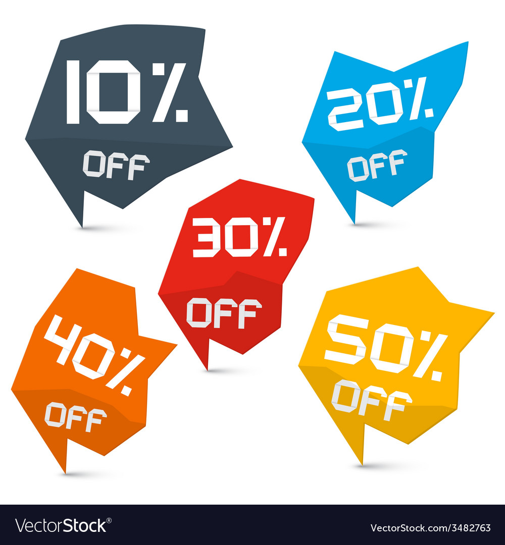 Discount web labels set vector | Price: 1 Credit (USD $1)