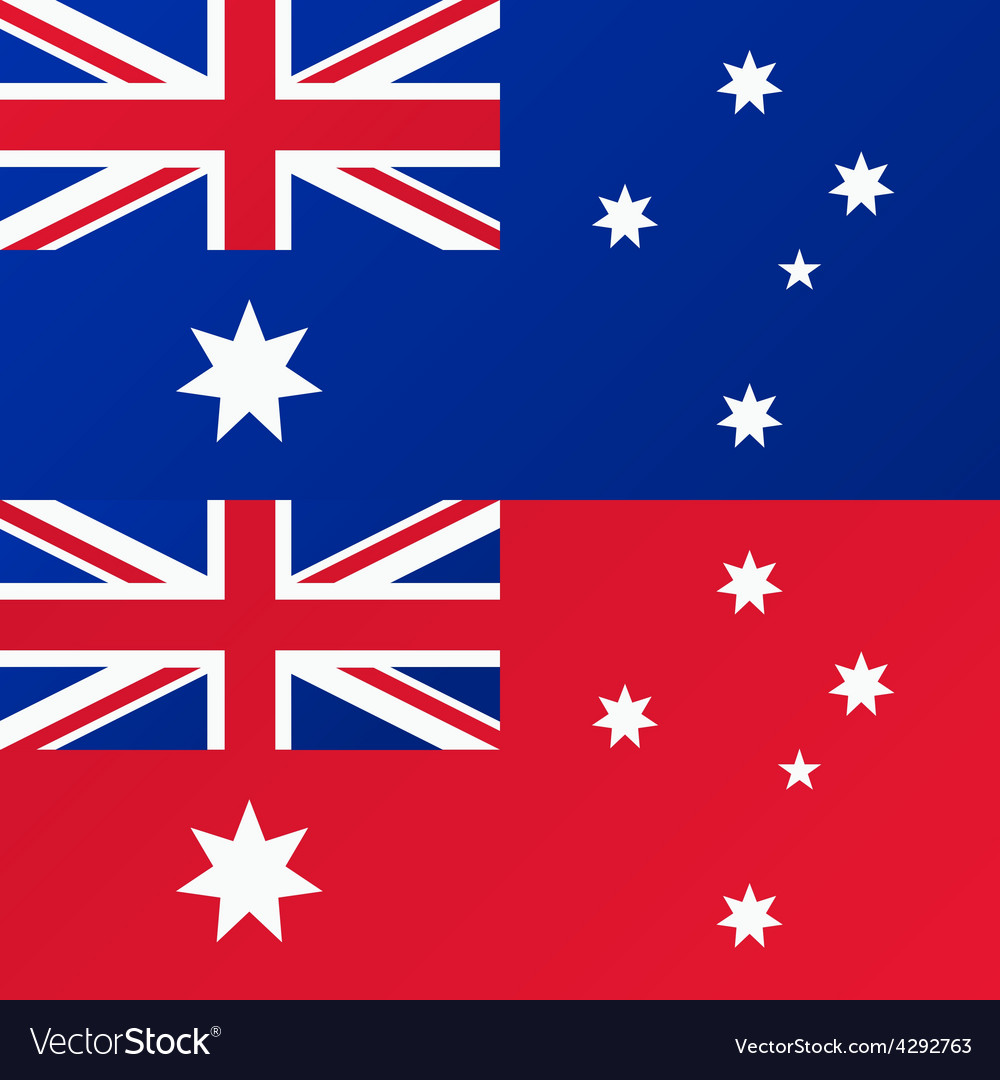 Flag of australia australian red ensign vector