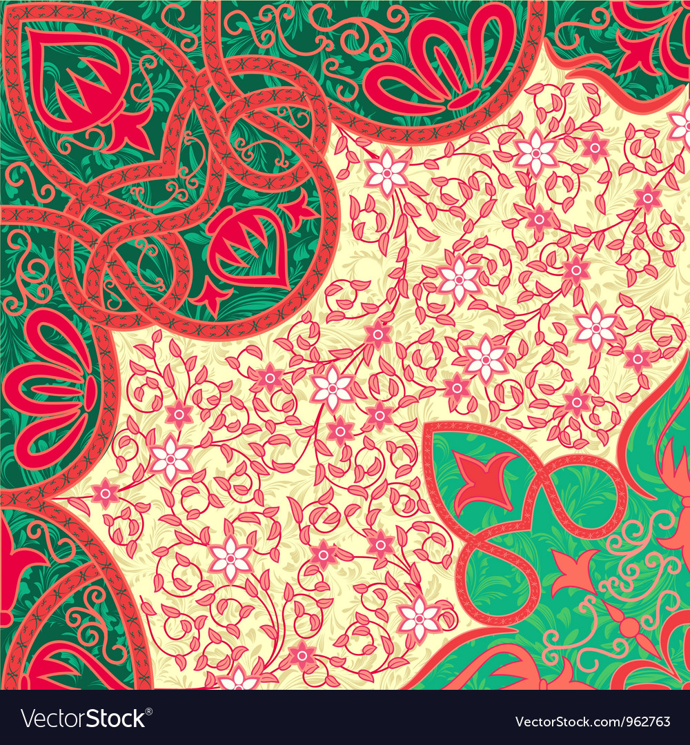 Floral arabesque background vector | Price: 1 Credit (USD $1)
