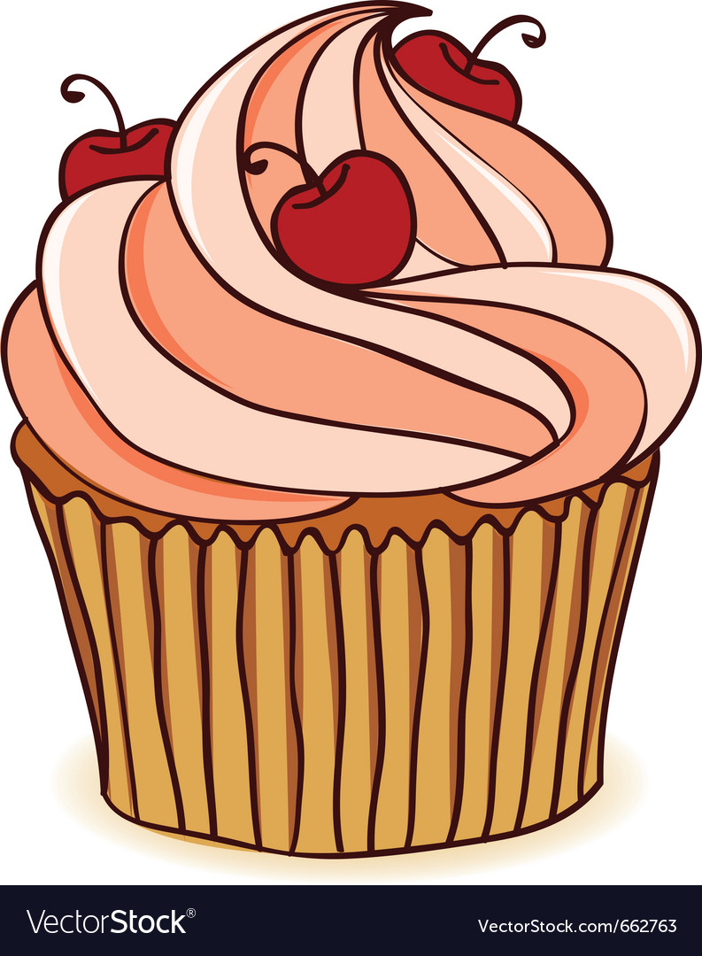Hand drawn cupcakes vector | Price: 1 Credit (USD $1)