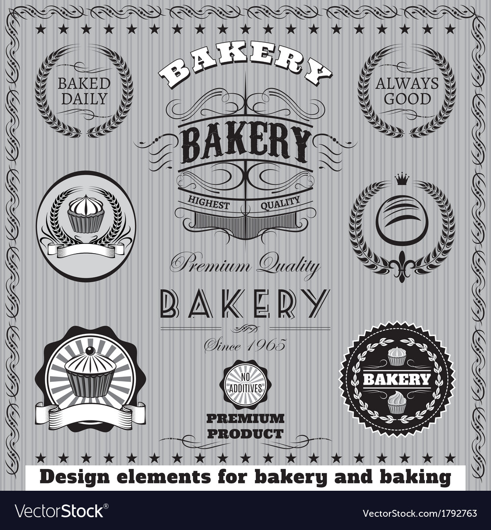 Icons for baking and bakery vector | Price: 1 Credit (USD $1)