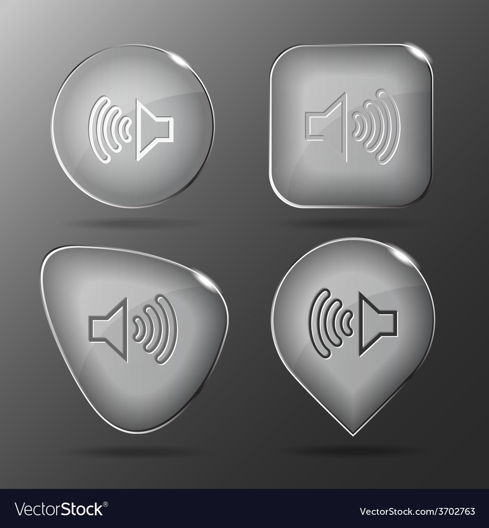 Loudspeaker glass buttons vector | Price: 1 Credit (USD $1)