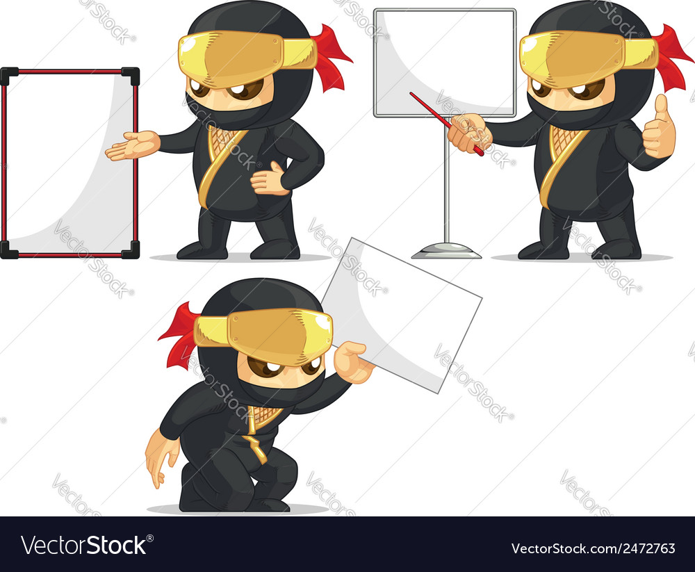 Ninja customizable mascot 18 vector | Price: 1 Credit (USD $1)