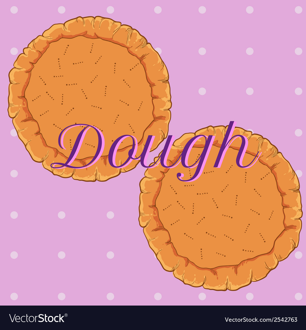 Pastry dough for pizza or pie vector | Price: 1 Credit (USD $1)