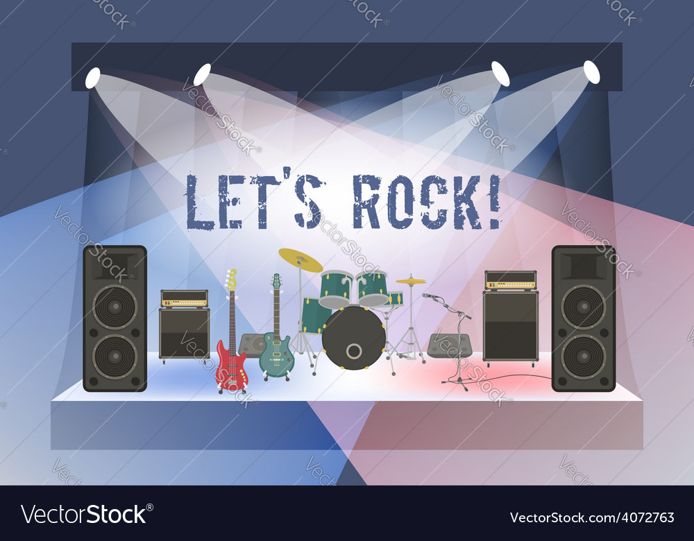Rock concert stage vector | Price: 1 Credit (USD $1)