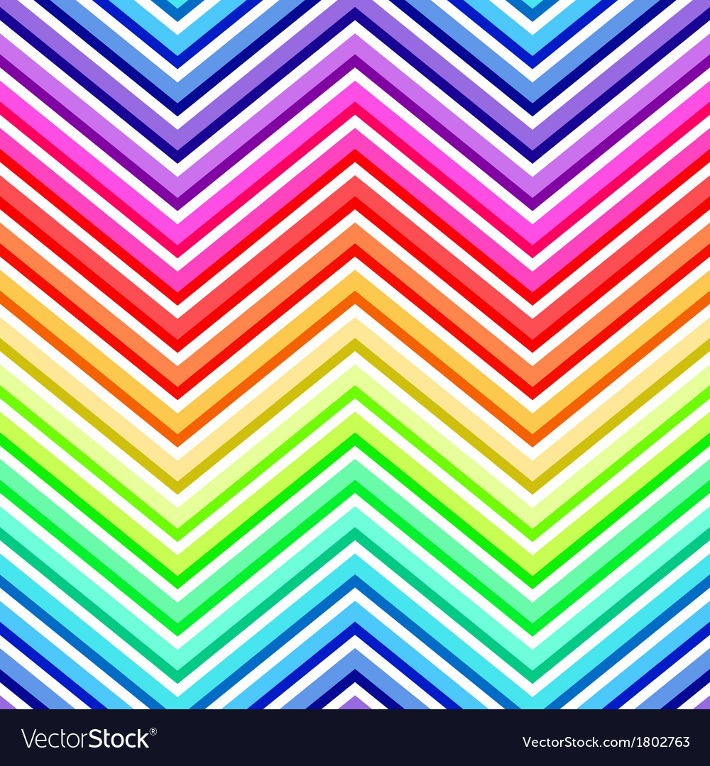Seamless rainbow chevron pattern vector | Price: 1 Credit (USD $1)