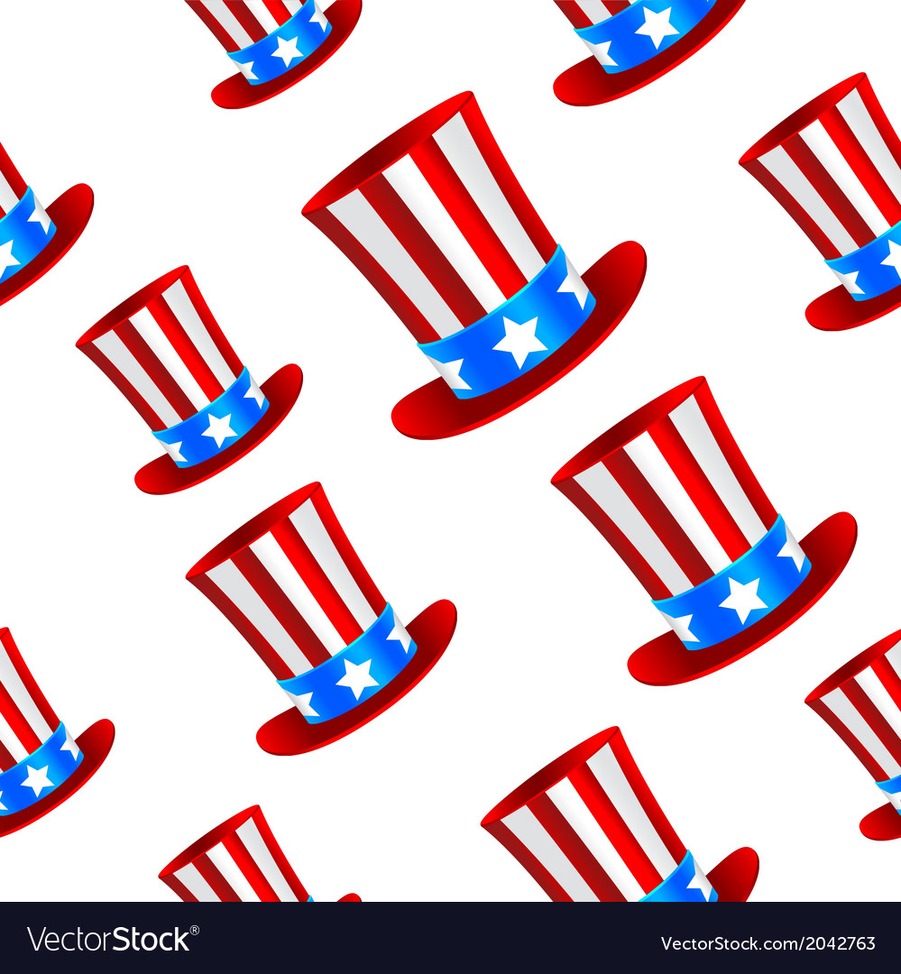 Uncle sam hat background vector | Price: 1 Credit (USD $1)