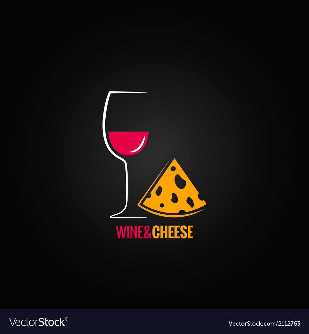 Wine and cheese design background vector | Price: 1 Credit (USD $1)