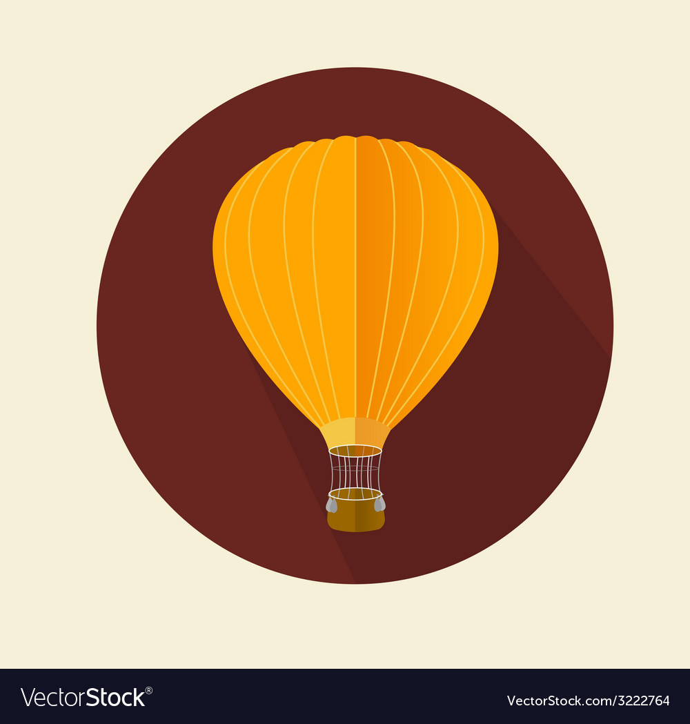 Air ballon icon flat vector | Price: 1 Credit (USD $1)