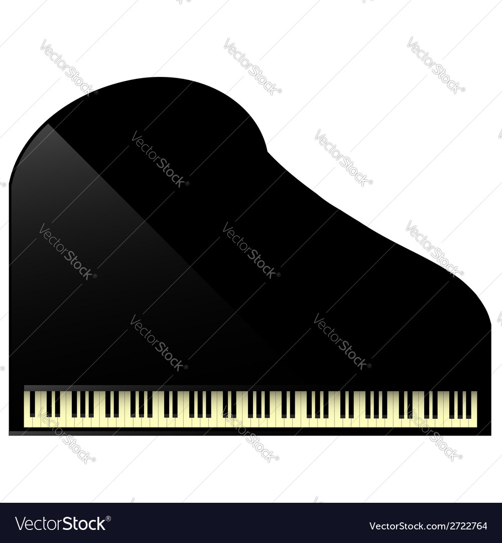 Black grand piano vector | Price: 1 Credit (USD $1)