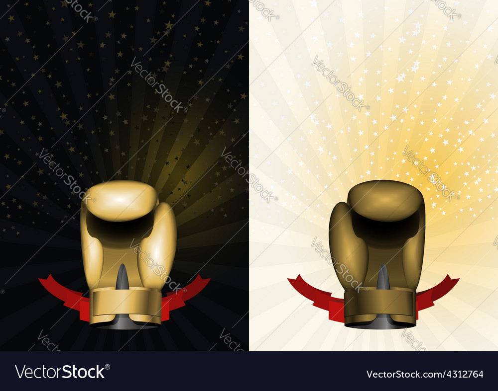 Boxing gloves set template for championship awards vector | Price: 1 Credit (USD $1)