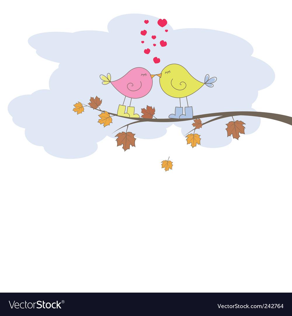 Card with artist bird vector | Price: 1 Credit (USD $1)