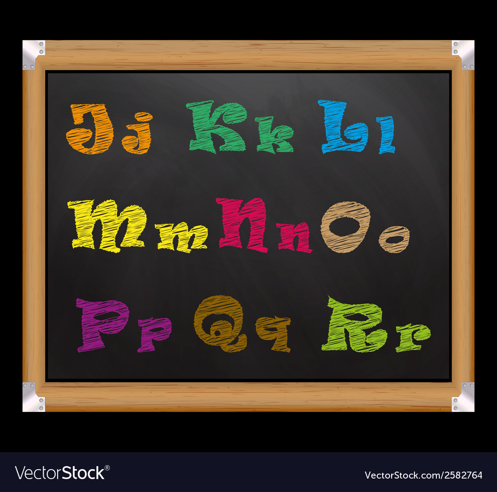 Chalk font on the school board vector | Price: 1 Credit (USD $1)