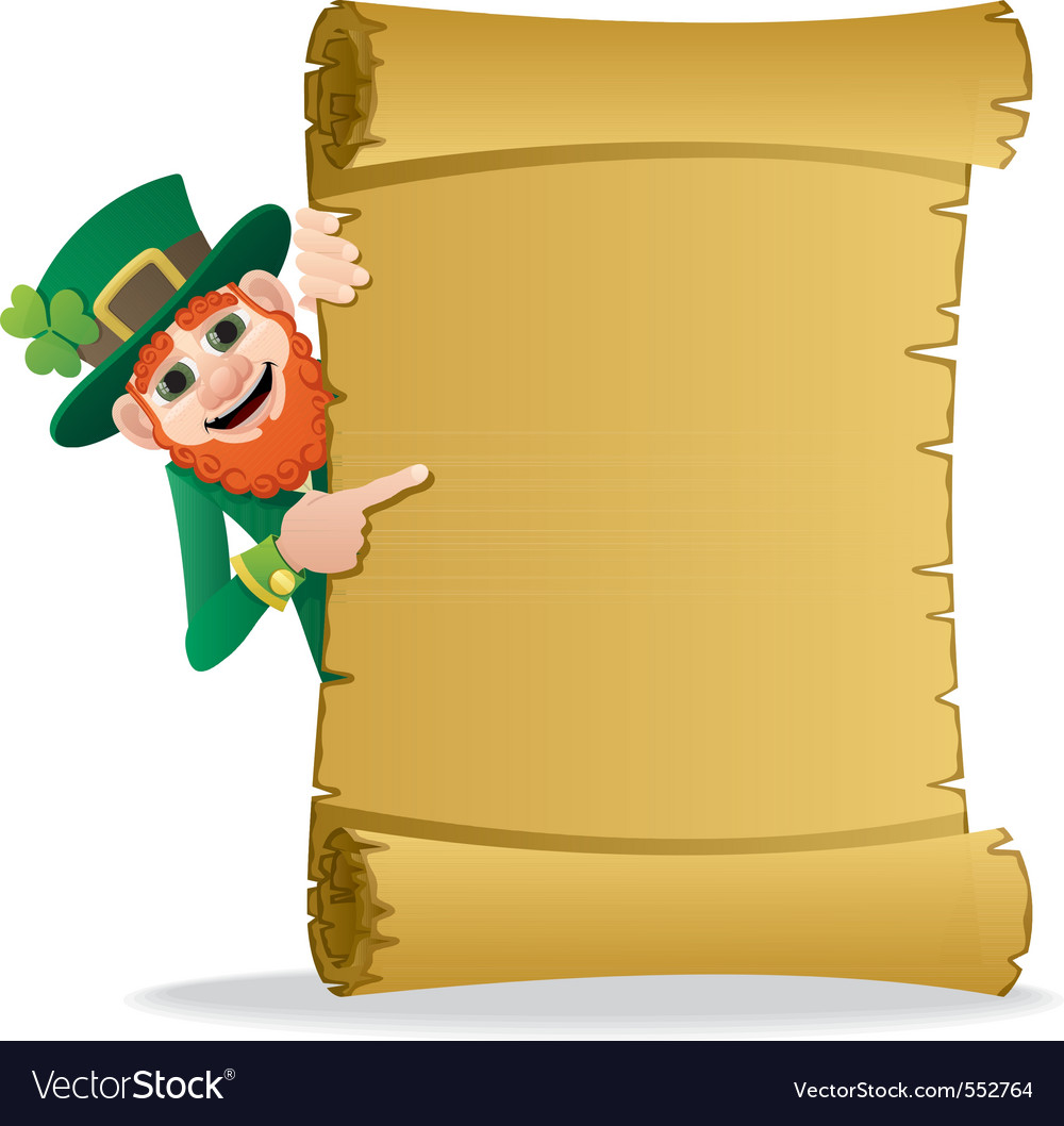 Leprechaun scroll vector | Price: 1 Credit (USD $1)