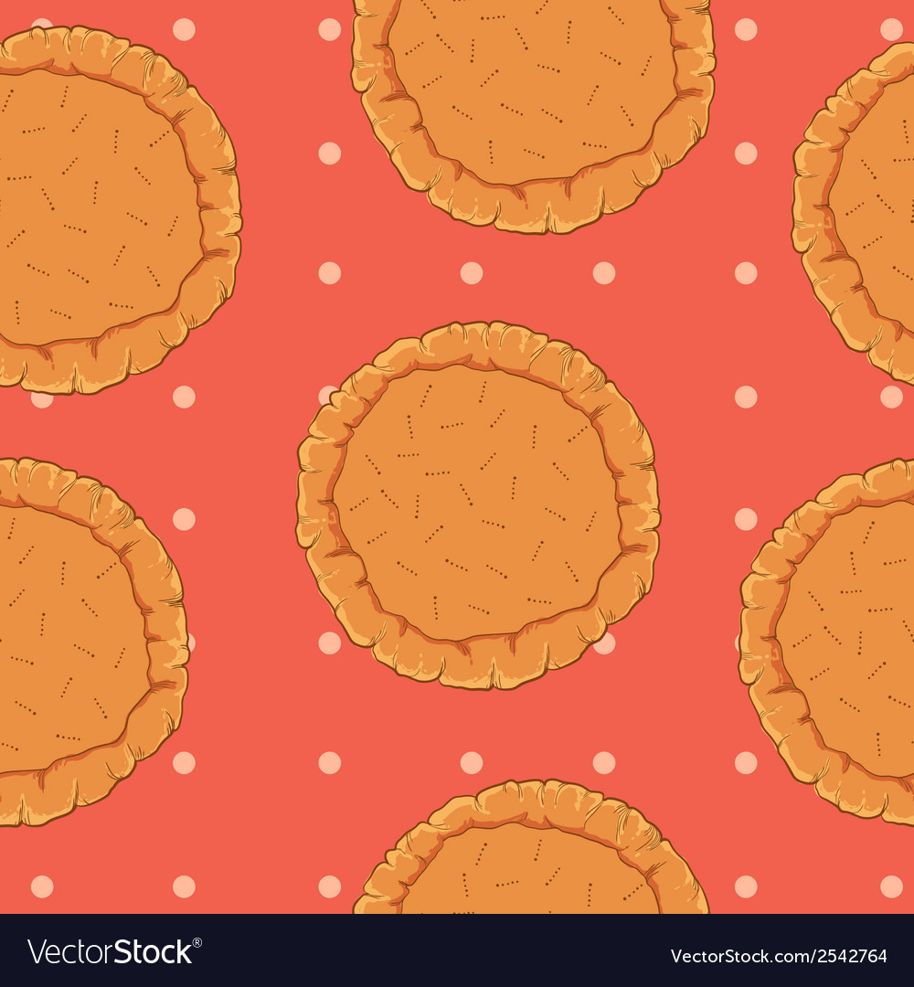 Pastry dough seamless pattern for pizza or pie vector | Price: 1 Credit (USD $1)