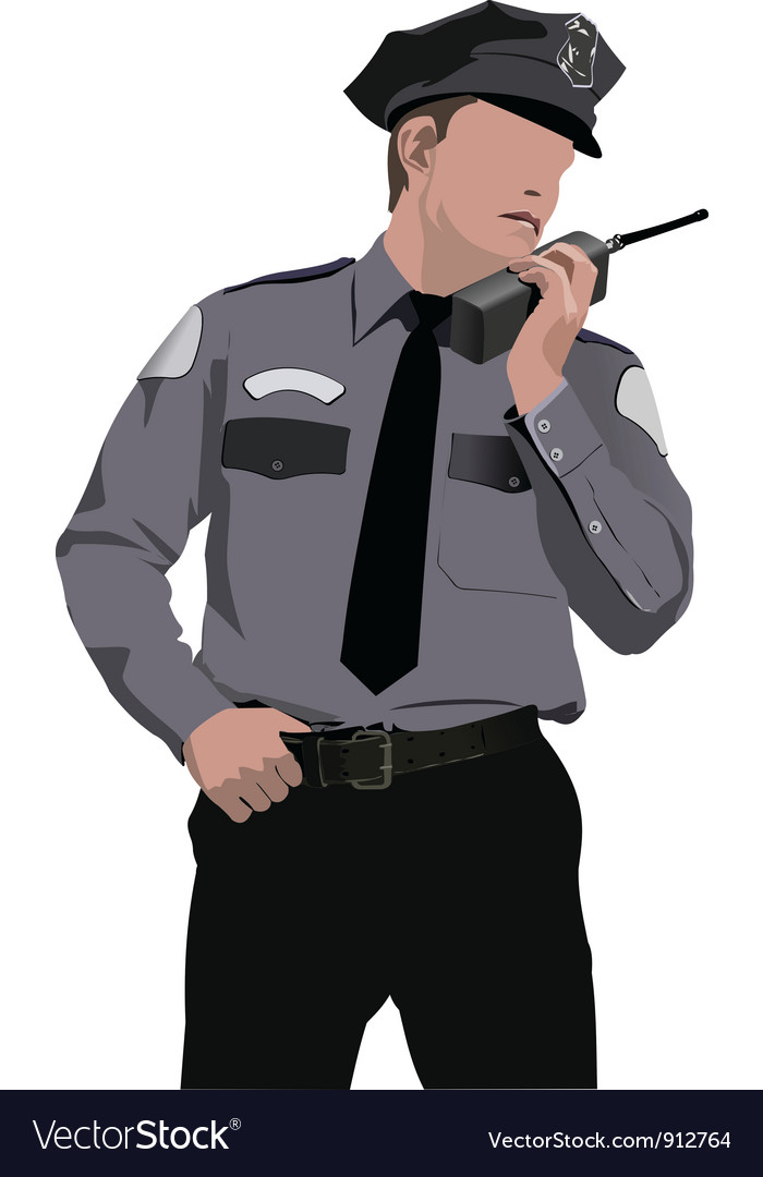 Policeman vector | Price: 1 Credit (USD $1)