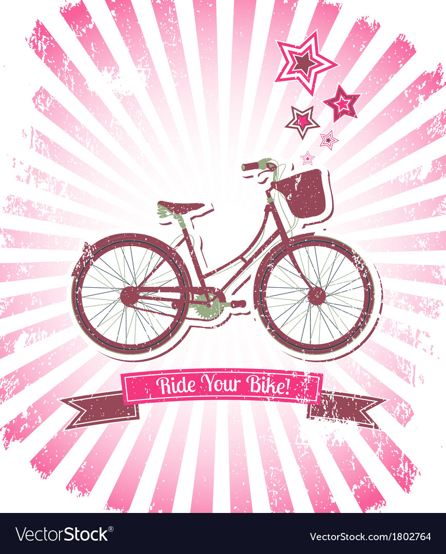 Ride your bike banner vector | Price: 1 Credit (USD $1)