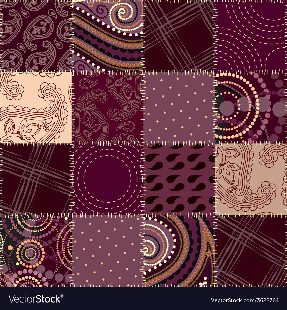 Seamless background patchwork vector   Price: 1 Credit (USD $1)