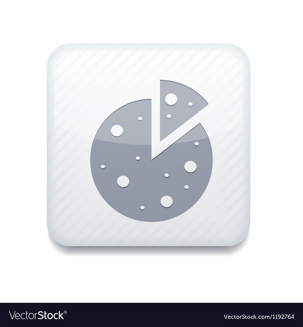 White pizza icon eps10 easy to edit vector | Price: 1 Credit (USD $1)