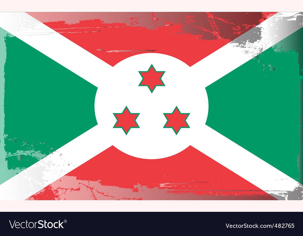 Burundi national flag vector | Price: 1 Credit (USD $1)