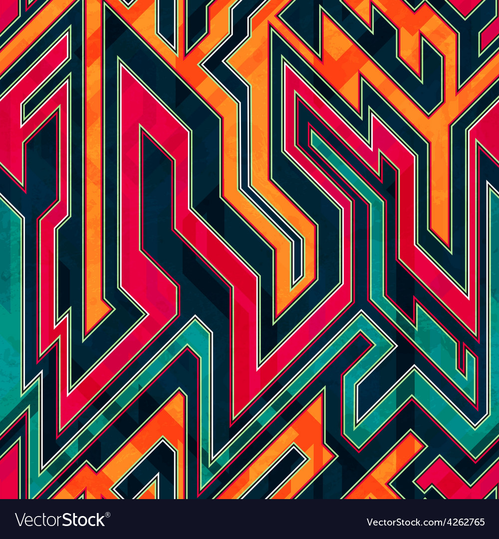 Fantastic maze seamless pattern vector | Price: 1 Credit (USD $1)
