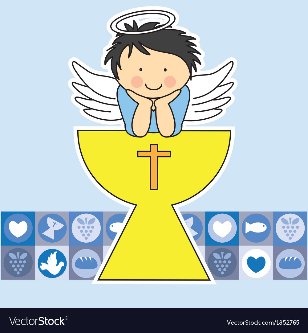 First communion card vector | Price: 1 Credit (USD $1)