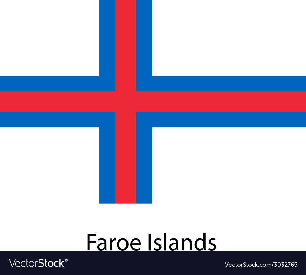 Flag of the country faroe islands vector | Price: 1 Credit (USD $1)
