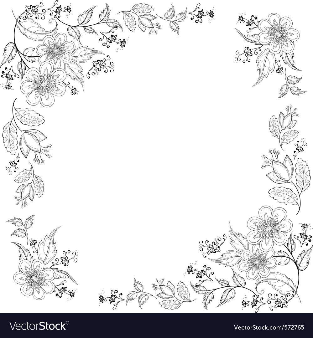 Flower background contours vector | Price: 1 Credit (USD $1)