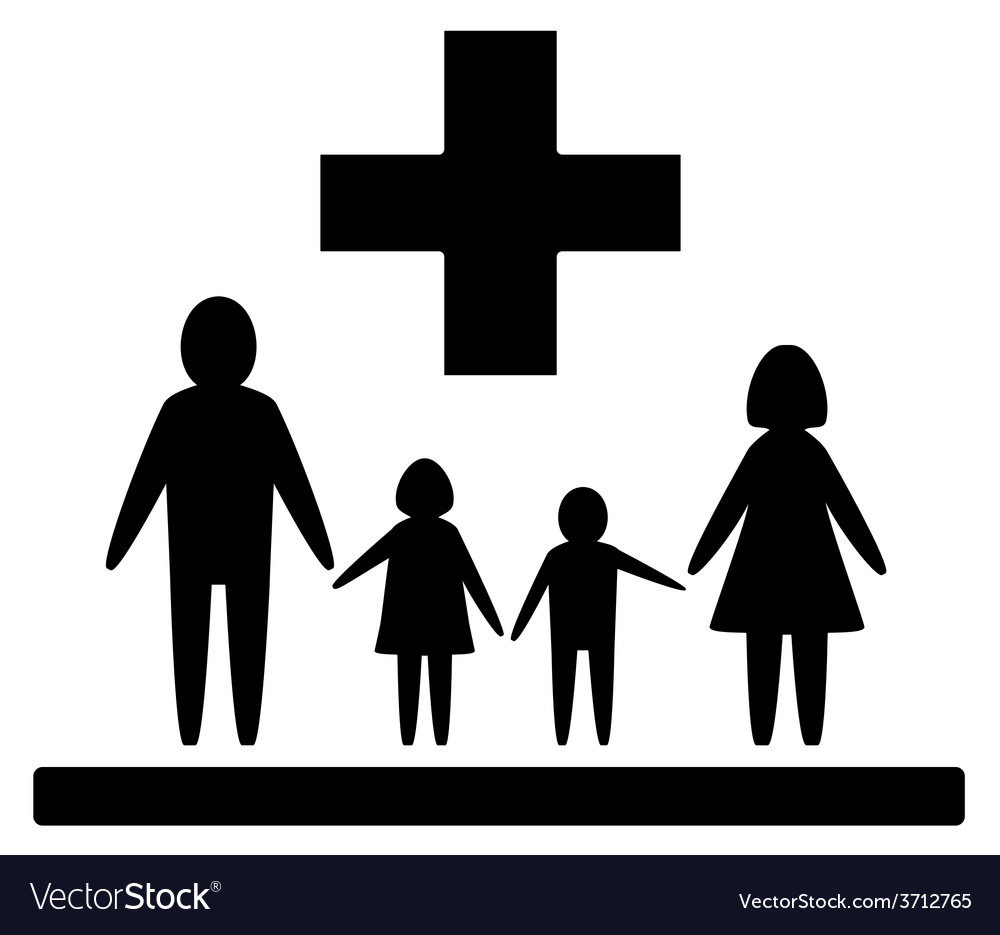 Isolated family medical symbol vector | Price: 1 Credit (USD $1)