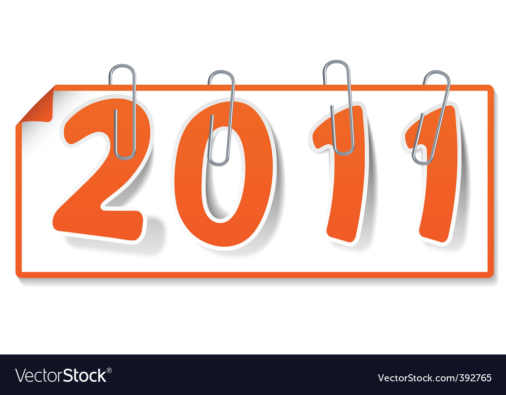 New year sign vector | Price: 1 Credit (USD $1)