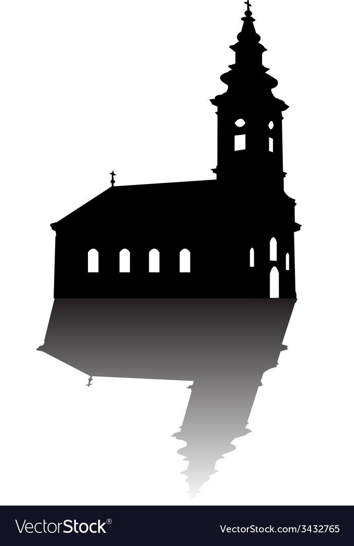 Orthodox church silhouette vector | Price: 1 Credit (USD $1)