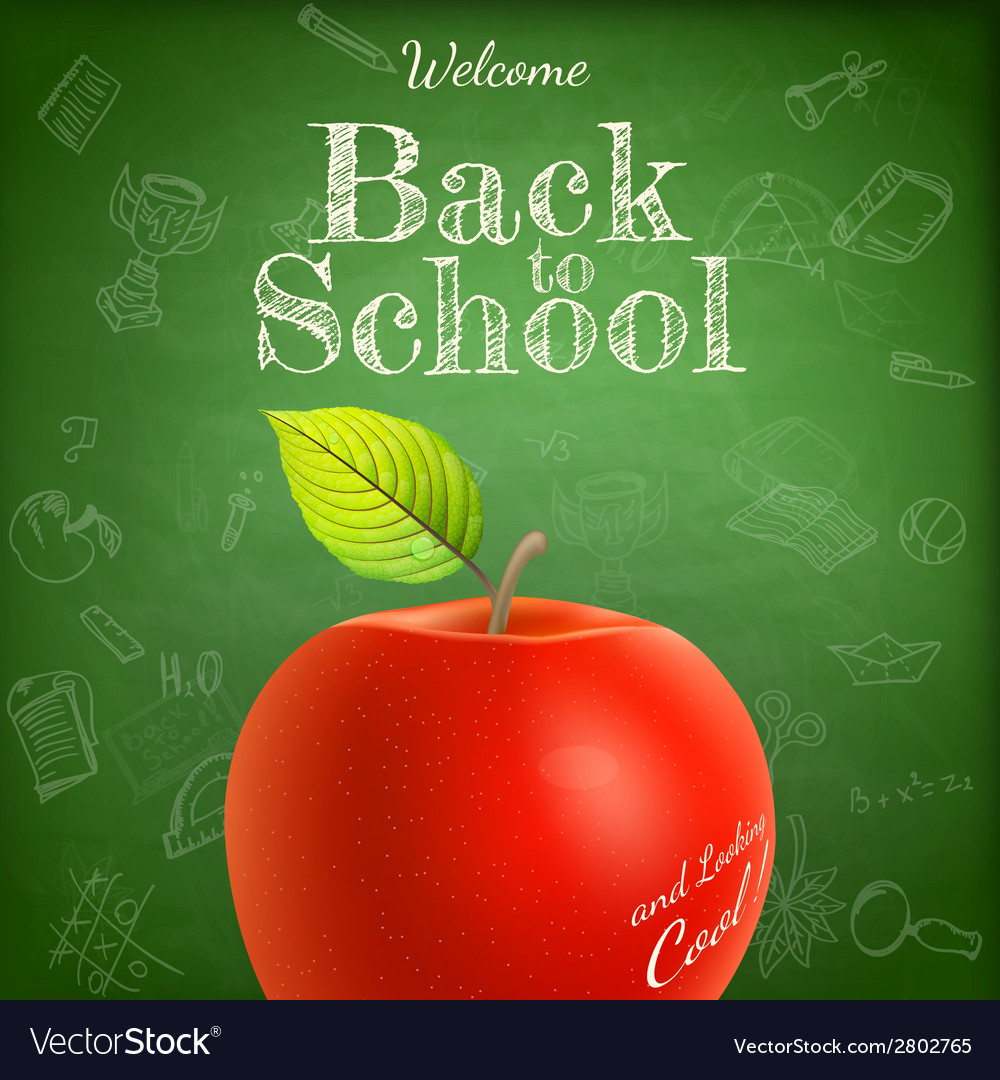 Welcome back to school template eps 10 vector | Price: 1 Credit (USD $1)