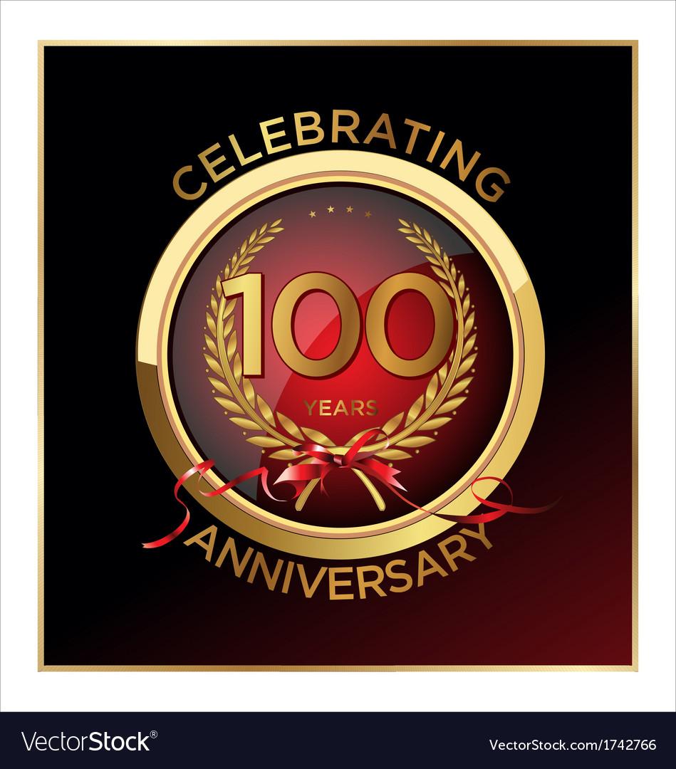 100 years anniversary label vector | Price: 1 Credit (USD $1)