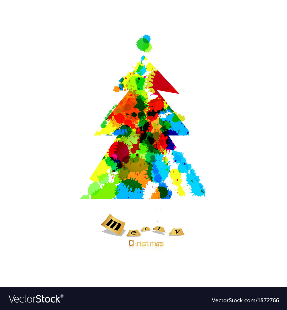 Abstract colorful christmas tree made from vector | Price: 1 Credit (USD $1)