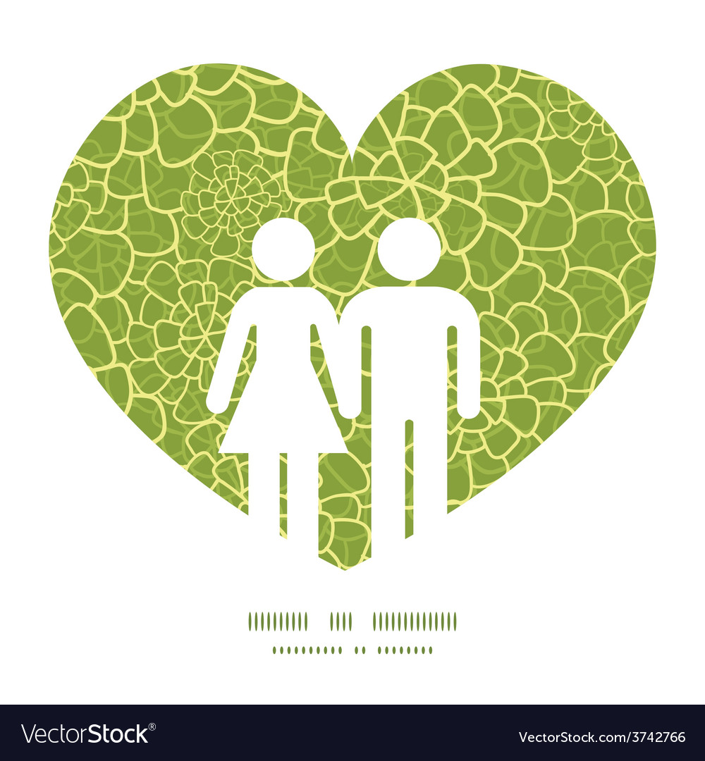 Abstract green natural texture couple in vector | Price: 1 Credit (USD $1)