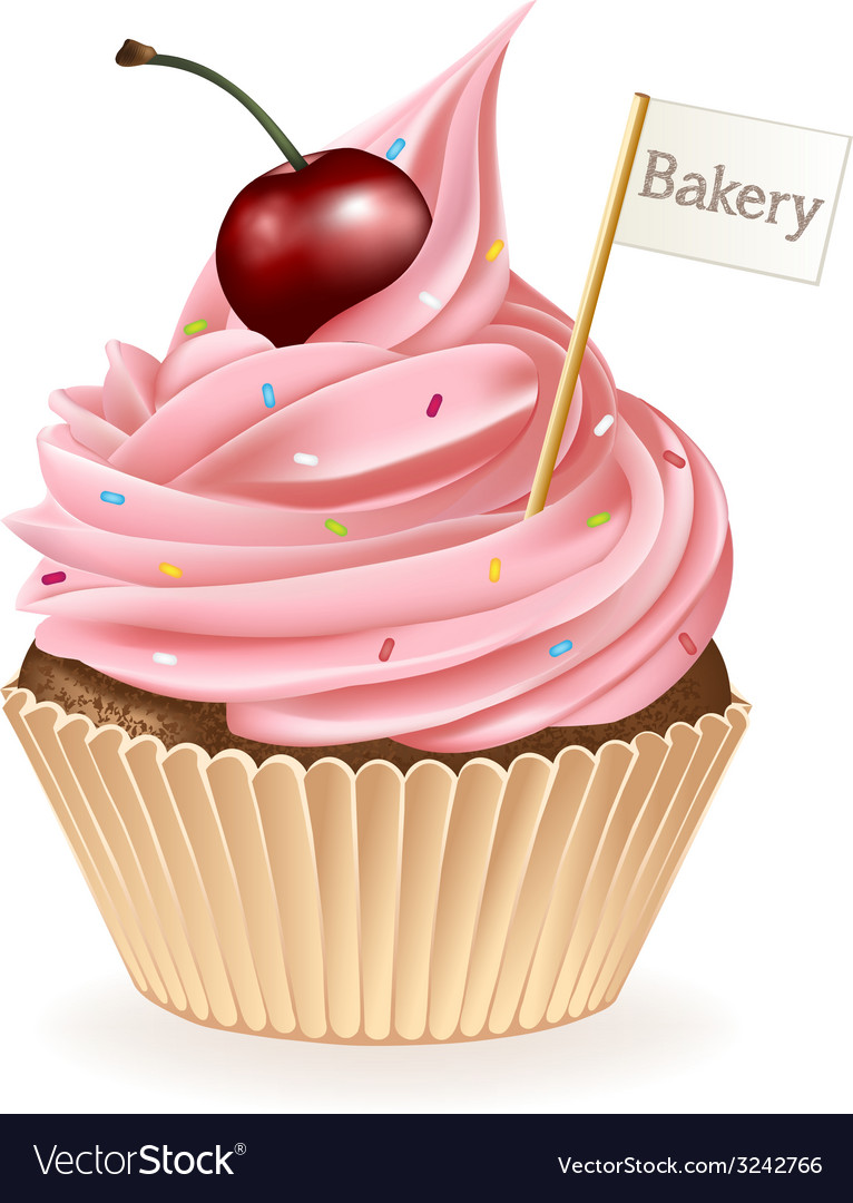 Bakery cupcake vector | Price: 3 Credit (USD $3)