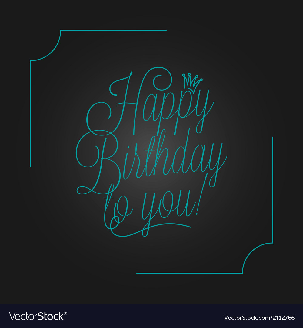 Birthday vintage lettering design background vector | Price: 1 Credit (USD $1)