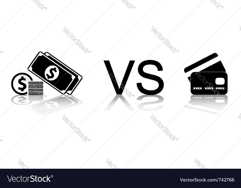 Cash vs card vector | Price: 1 Credit (USD $1)