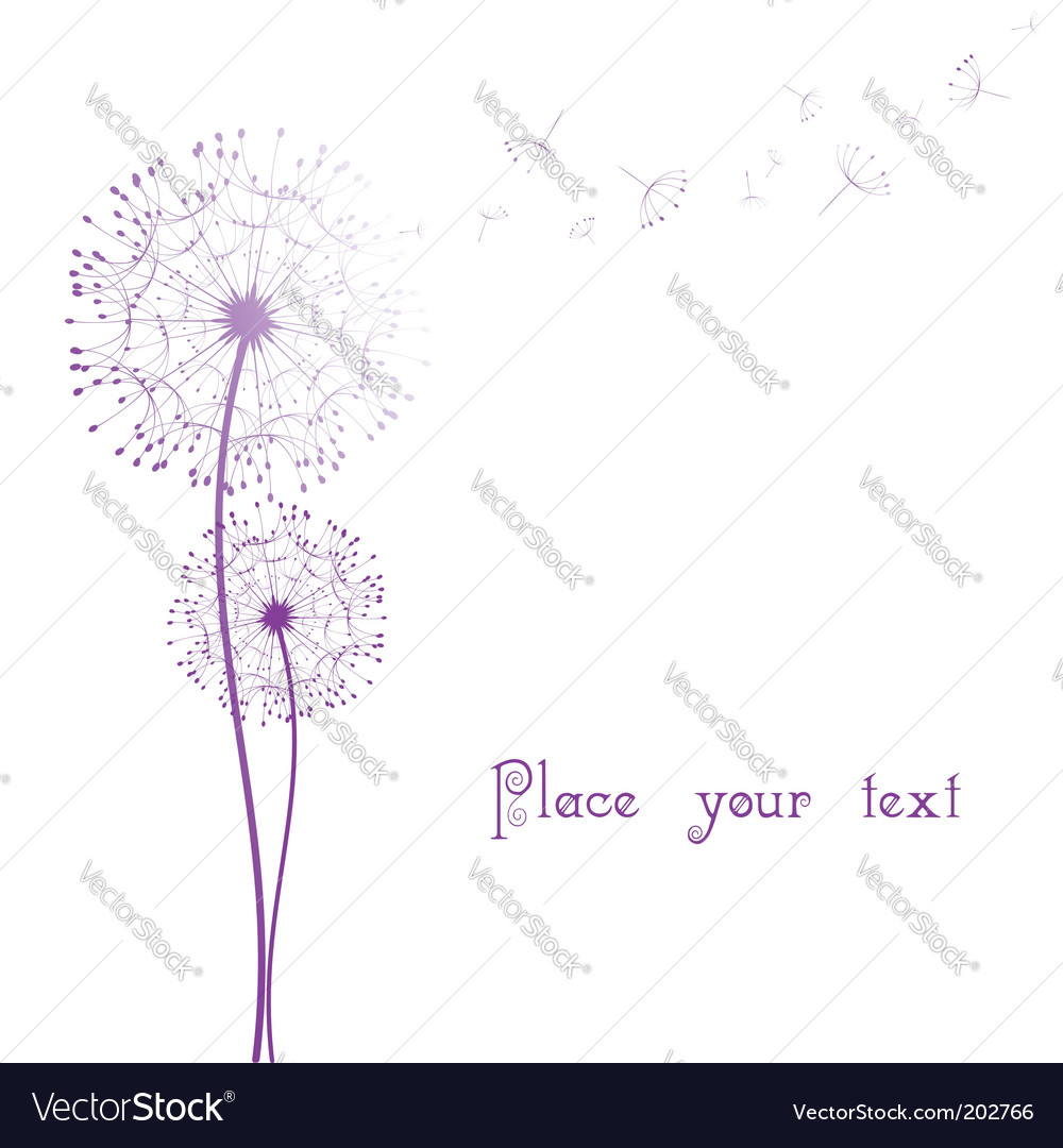 Dandelion in the wind vector | Price: 1 Credit (USD $1)