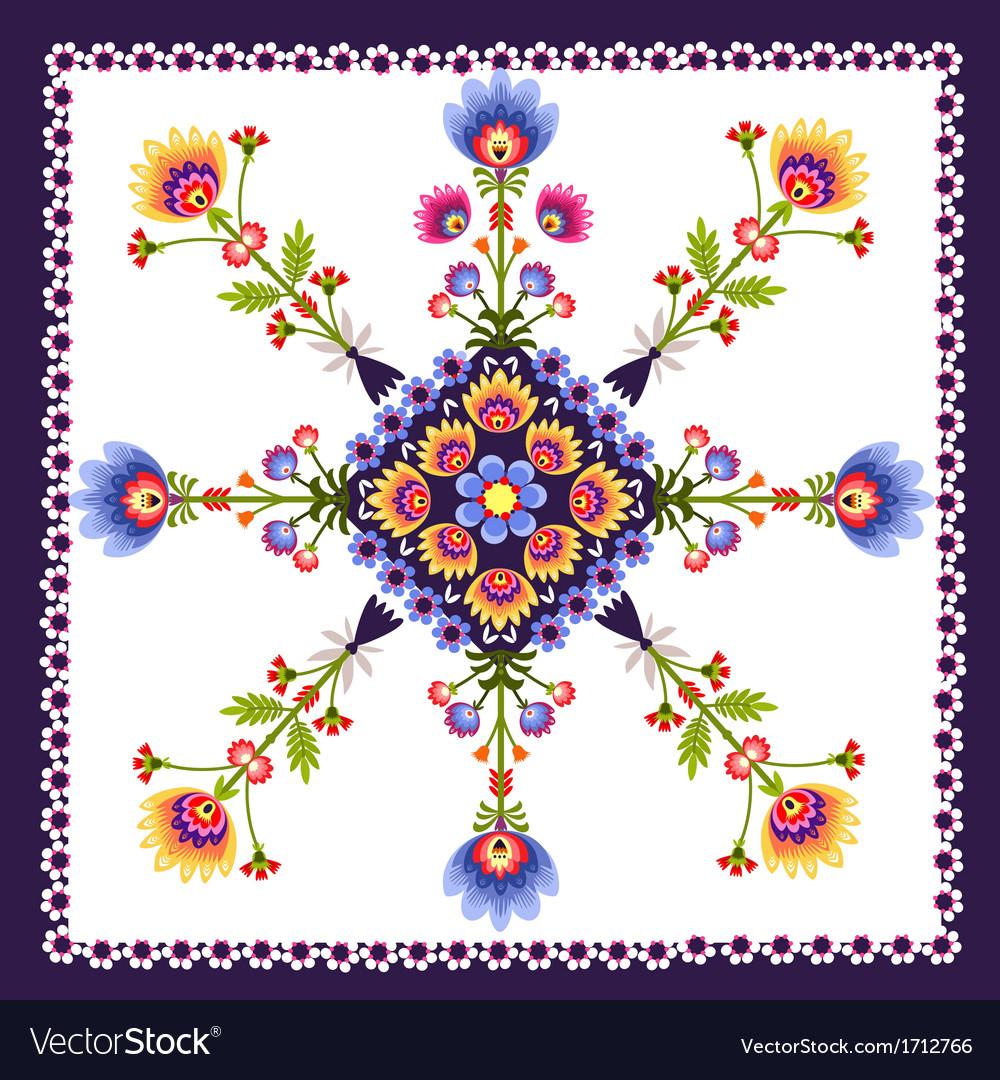 Floral pattern folk vector | Price: 1 Credit (USD $1)